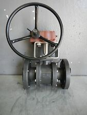 "AVCO 3"" 1000 SERIES STAINLESS STEEL SEATED BALL VALVE w MASTERGEAR M12 ACTUATOR"