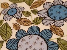 6 Vtg J&G Meakin Topic Pattern Studio Blue Floral 1960-70's Side Plates 17.5cm