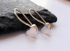 Cute Love Heart 925 Sterling Silver Drop Dangle Earrings
