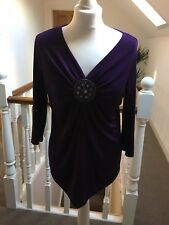 Ladies Purple Wardrobe Top. Size 12/14