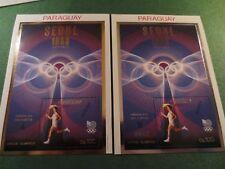Scott #C714 MNH Gold Silver Seoul Paraguay Olympics Torch Runner RARE MUESTRA
