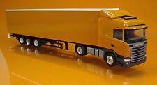 Herpa 307451  Scania R Highline Gardinenplanen-Sattelzug - orange