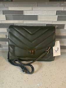 A New Day Olive Green Crossbody Bag with Chain Strap & Toggle Closure