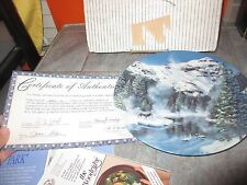 Nature'S Legacy Plate Winter Peace In Yellowstone Park 6th in Series Jean Sias