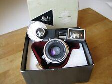Leica 35mm Summicron f/2 8 Element Lens 1st V. 1  1959  **MINT**