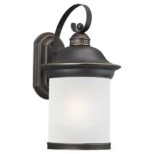 Sea Gull Lighting Outdoor Lantern 19.75 Inch Wall Mount 1-Light Antique Bronze