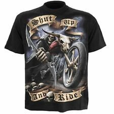Spiral Direct  SHUT UP AND RIDE  T-Shirt  Brand New  Size XL  Gothic Goth Vamp