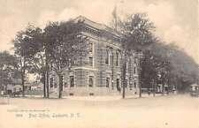 Lockport New York Post Office Street View Antique Postcard K34193