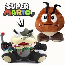 2Pcs Super Mario Bros. Morton Koopa Jr and Goomba Plush Stuffed Animal Doll US