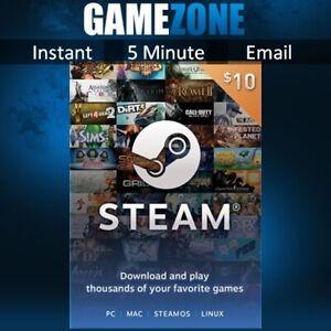 $10.30 Steam 10 USD US Dollar Prepaid Steam Wallet Game Card Code - USA