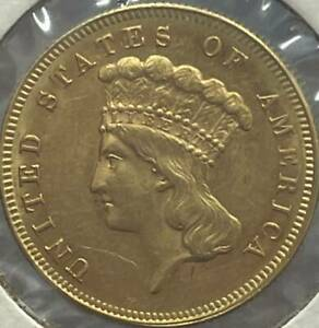 Gold Dollars Indian Princess Head, Large Head 1883  Not certified