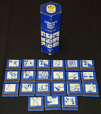 1976 MONTREAL XXI OLYMPIC SUMMER GAMES COLLECTORS MATCH SERIES 21 SPORTS SET+BOX