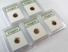 Slabbed Lot of 5 Ancient Roman Widows Mite Sized Bronze Coins c 50 BC - 400 AD e