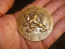 Ancienne Médaille Lyon Parc Auto Devise Ville de Lyon Avant Lion le Melhor Ravel
