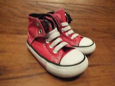 Boys Converse CT All Star  Red Canvas  Mid Top Trainers Size UK 6 Kids EU 22