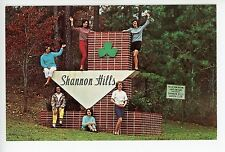 Shannon Hills—Pretty Girls ANNISTON AL Rare Antique Entrance Sign Women 1950s