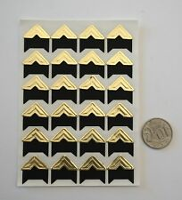 NO 030 Scrapbooking -24 Gold Photo Picture Adhesive Corners Stickers Scrapbook