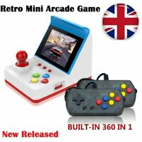 Retro Game Console Handheld Game Console 4.3 Inch 360 Built-in Games 2 Joystick
