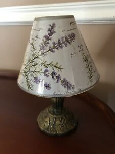 Bath And Body Works Vintage Lavender Lamp and Shade For Votive Candle