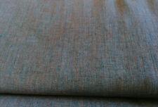 2-farbig Leinen meliert 10 X 145 cm vorgewaschen 250 g/lfm Petrol Braun