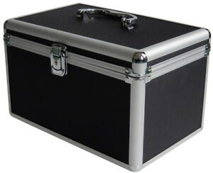 1 Mediarange Black Aluminium 120 CD DVD DJ storage Flight case numbered BOX 70