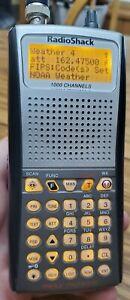 RADIO SHACK PRO-97 TRIPLE TRUNKING 1000 CHANNEL SCANNER WORKS