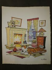 BILL WATTERSON, Calvin and Hobbes ink,watercolor on paper