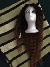 Gorgeous Lace-front deep waves, Ombre Cosplay Wig 30inch, heat resistant.Superb