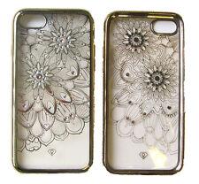 Bling Crystal Transparent Diamond TPU Soft Slim Bumper Gel Case Cover For iPhone