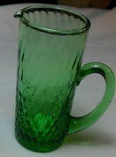 Antique Vintage Miniature Green Glass Pitcher Shot Glass w/ Spout & Handle