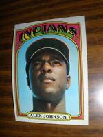 1972 Topps #215 Alex Johnson Cleveland Indians  ExMt