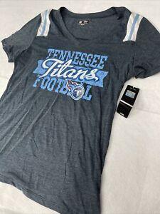 🌴 Womens Tennessee Titans T-shirt V Neck Football NFL XL 🌴 Blue