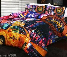 New York Times Square Duvet Doona Quilt Cover Set   Georges Fine Linens   Queen