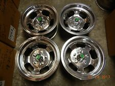 VINTAGE SET POLISHED 14x7 SLOT MAG WHEELS CAMARO SS GM FIREBIRD GTO GS WAGON