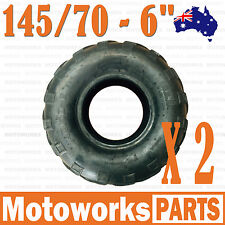 "2 x 145/70 - 6"" inch Front Rear Tyre Tire Kids Quad Bike ATV Buggy Go kart"