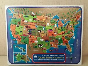 1968 Golden United States Picture Map Puzzle