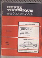 VINTAGE Revue technique automobile N°269 Septembre 1968 FIAT 125 BERLINE