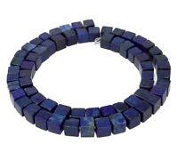 😏 Lapislazuli Würfel 5 & 6 mm Edelstein Perlen Strang lapis lazuli cubes 😉