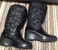 "Coach ""CANTINA"" Black Winter Boots 6B"