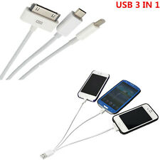 iPhone Samsung Android 3 in 1 Multi USB Data Charging Cable Data lines Charger