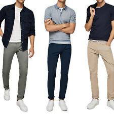 Pantalone Uomo Elasticizzato Chino Jeans Slim Fit Elegante Cotone VEQUE