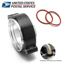 """Exhaust V-band Clamp w Flange Assembly Anodized Clamp For 3"""" Turbo Dump Pipe"""