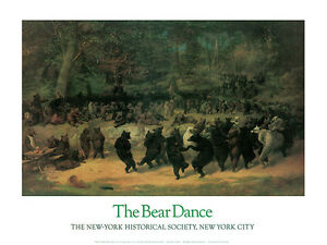 The Bear Dance,1870 by William H Beard Art Print Stock Market Wall Street Poster
