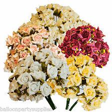 12 x 3cm Wedding Foam Roses Flowers Cake Decoration, Cards, Craft Free Uk Post