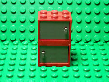 LEGO LEGOS  2 NEW RED Container, Cupboard w/ DARK BLUISH GRAY Door 2x3x2