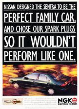 1995 Nissan Sentra - NGK Spark Plugs - Classic Vintage Advertisement Ad D182