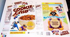 1991 Ralston Cookie Crisp Cereal Box unused factory Flat cf7
