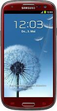 Samsung Galaxy s3 rojo gt-i9300 8mp Smartphone Android sin contrato