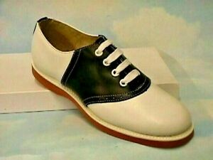 Navy/white Classic Leather Saddle Shoes women's sizes 5-11 wides