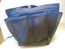 Dark blue caddy, 6 mesh pockets, clip,large inner space, shower, make up, clean